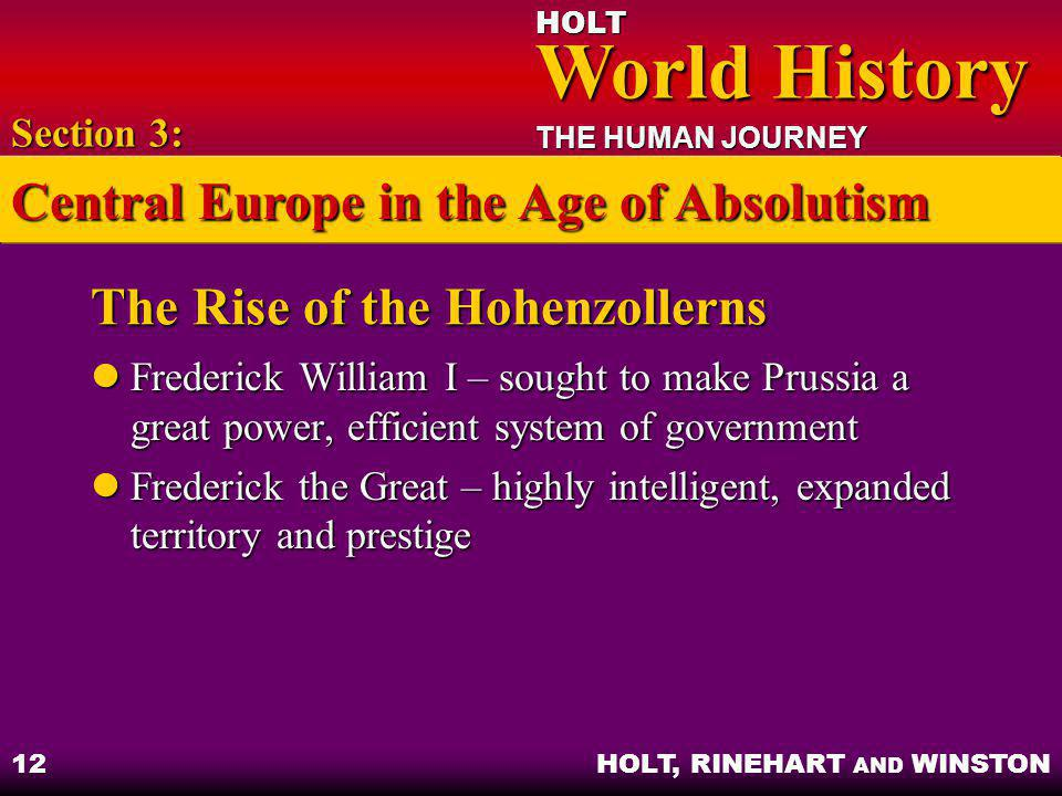 The Rise of the Hohenzollerns