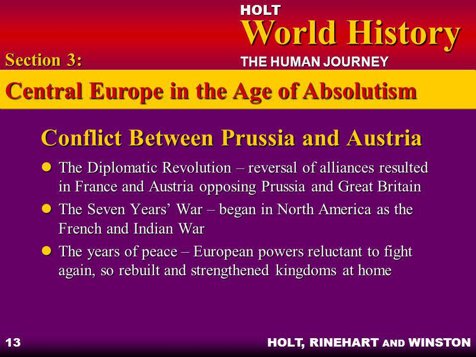 Conflict Between Prussia and Austria
