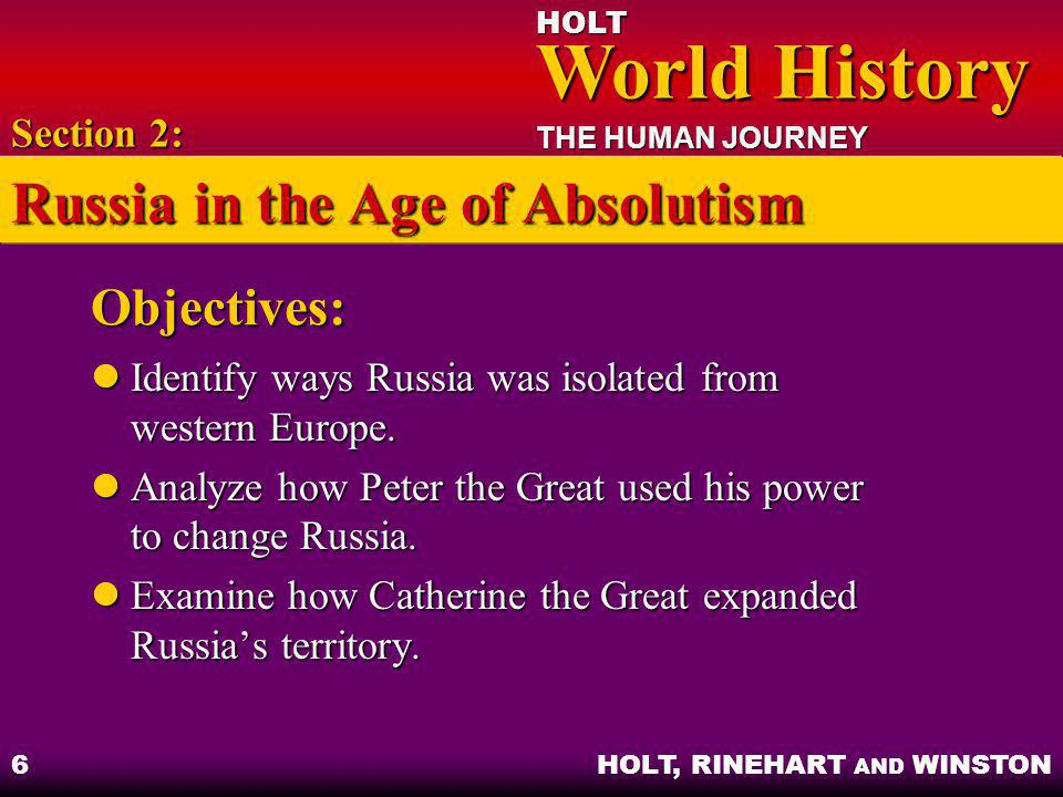 Russia in the Age of Absolutism