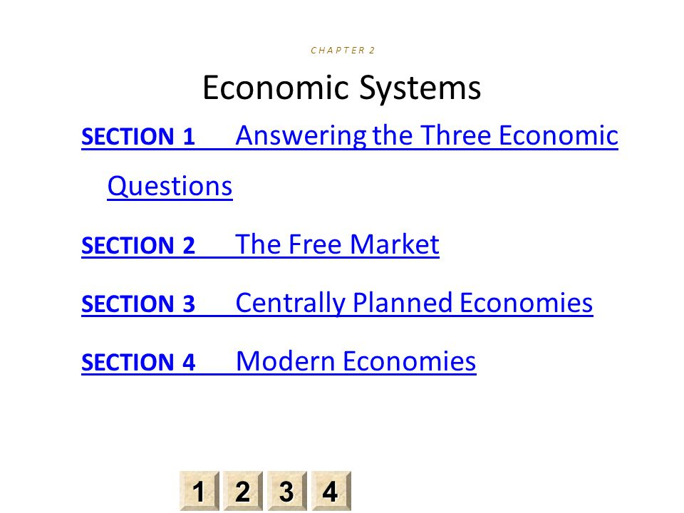 C H A P T E R 2 Economic Systems