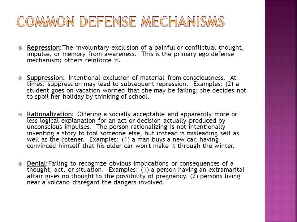 Common defense Mechanisms
