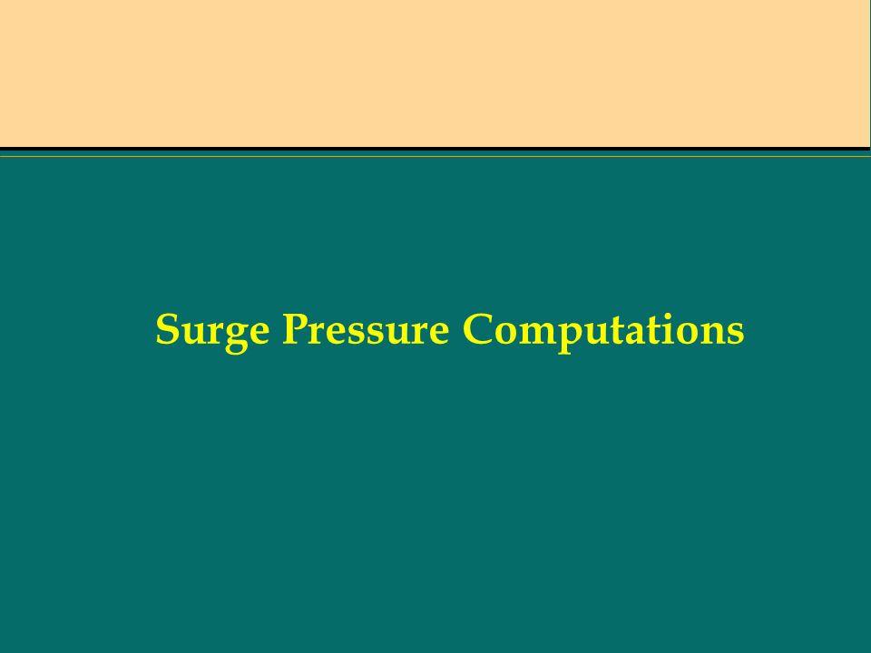 Surge Pressure Computations