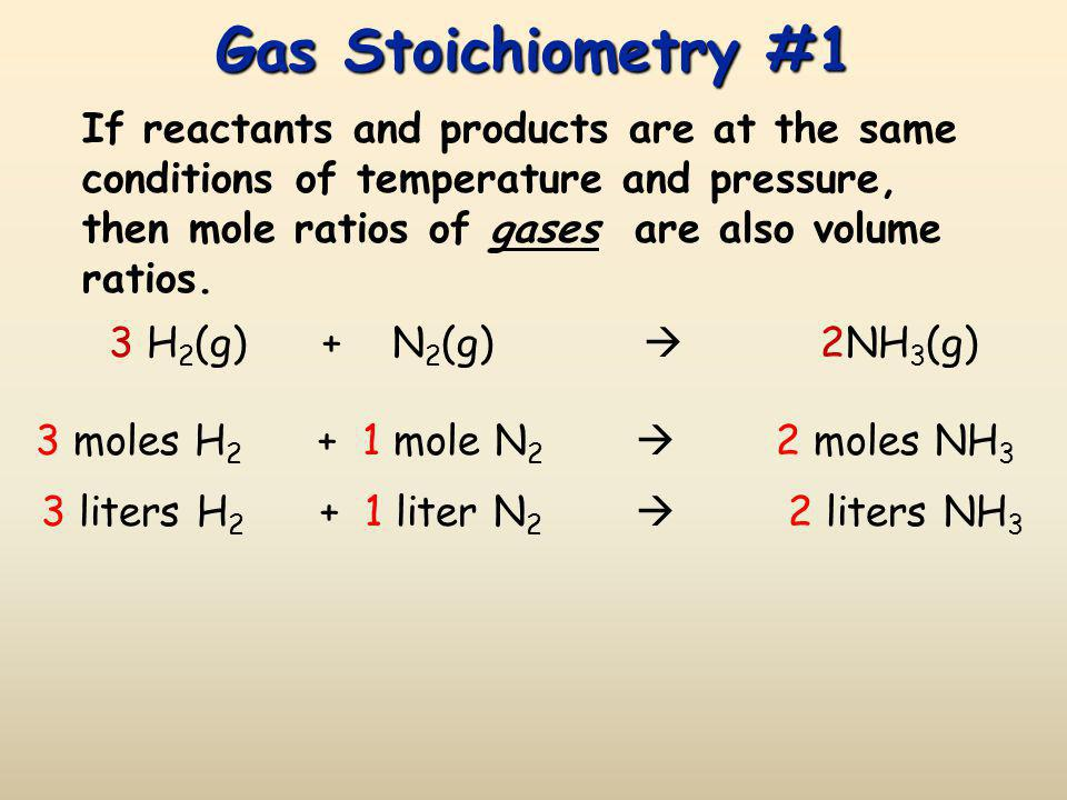 Gas Stoichiometry #1