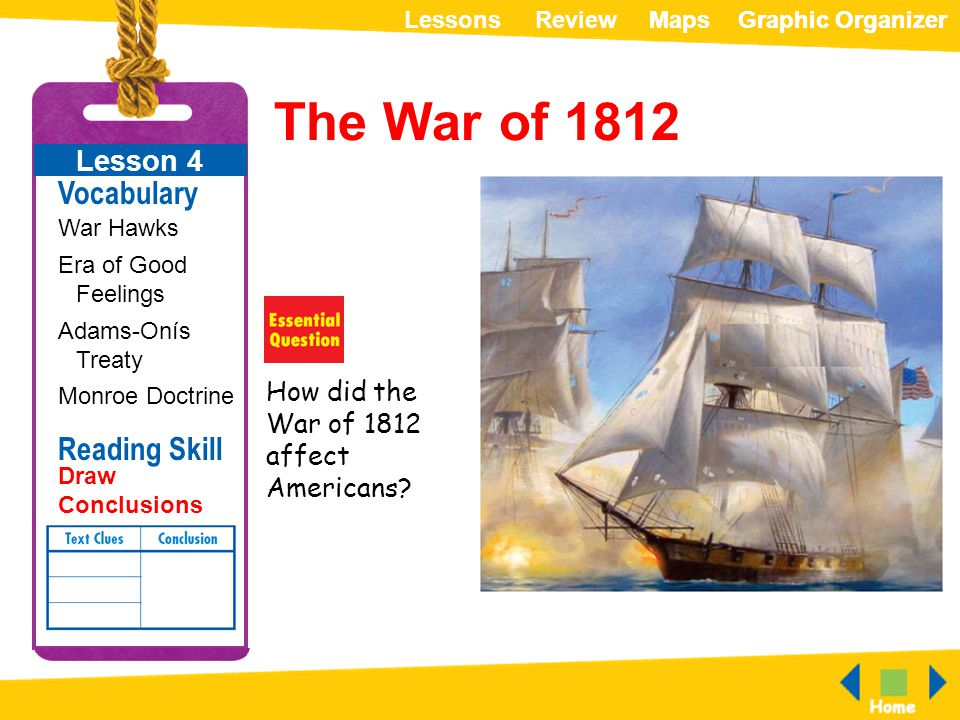 The War of 1812 Vocabulary Reading Skill Lesson 4