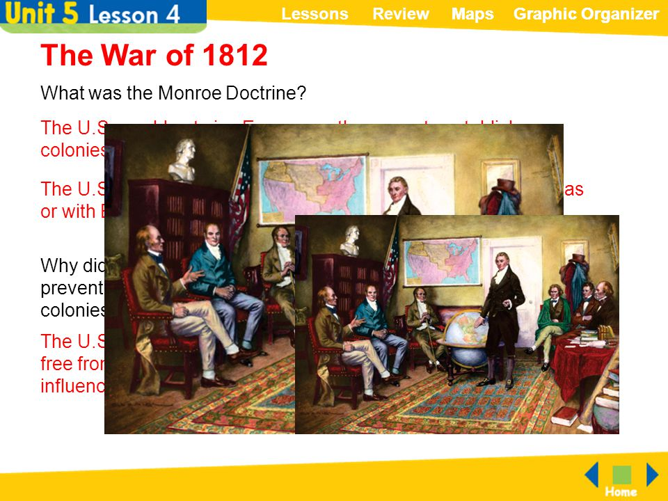 The War of 1812 What was the Monroe Doctrine