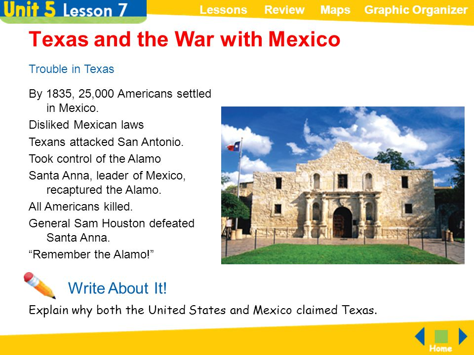 Texas and the War with Mexico
