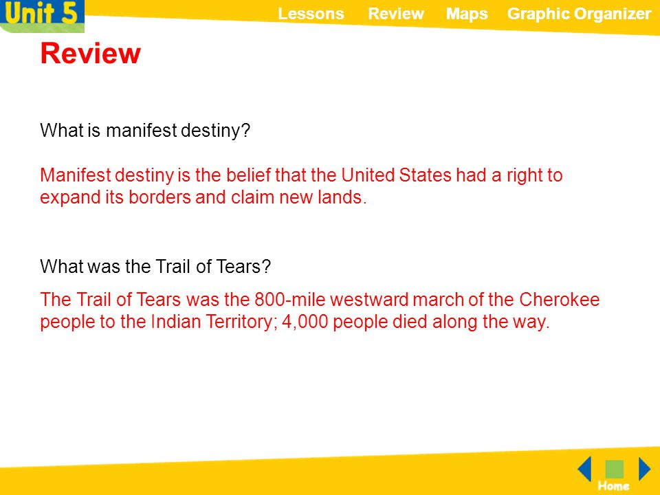 Review What is manifest destiny