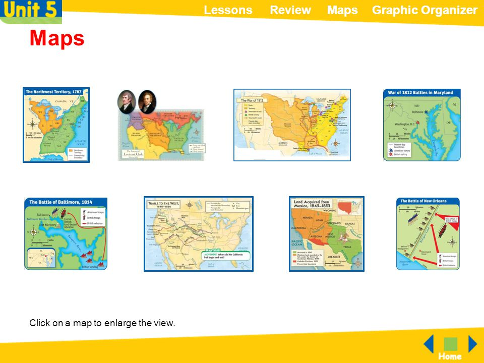 Maps Click on a map to enlarge the view.