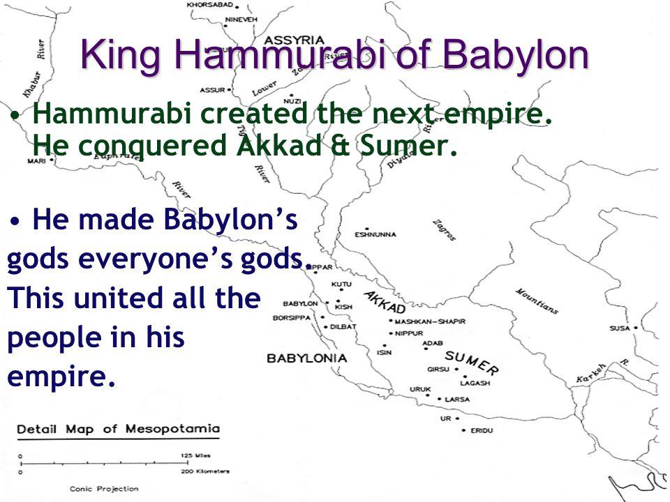 King Hammurabi of Babylon
