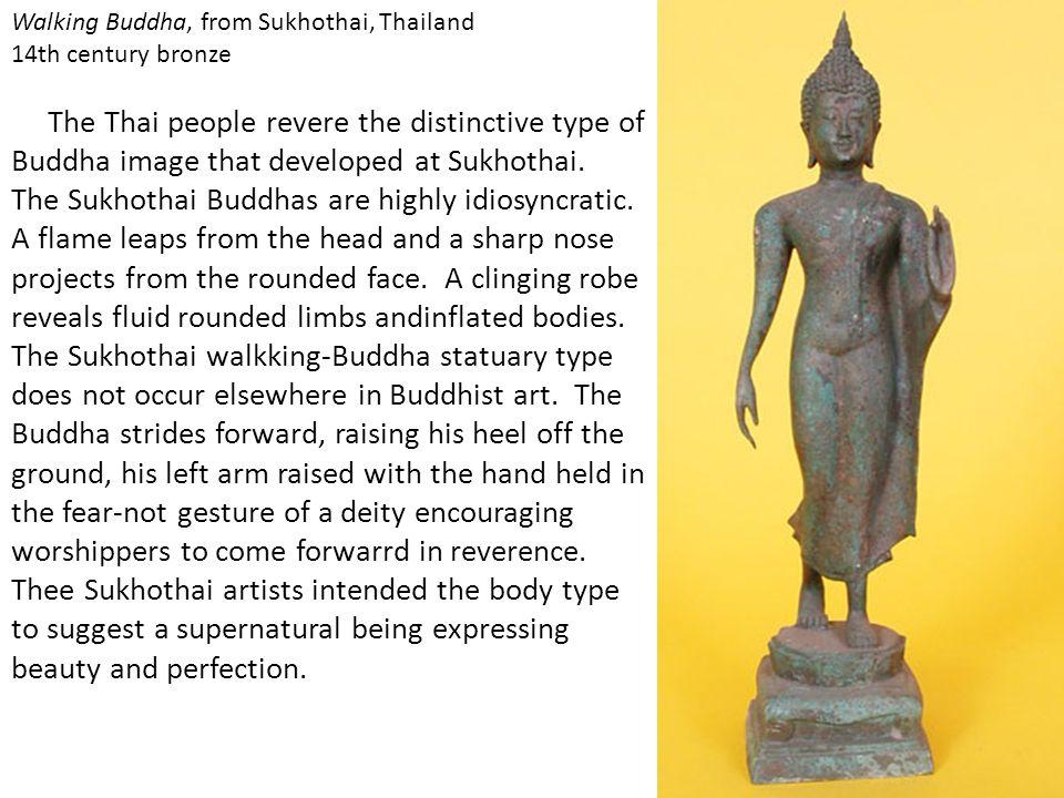 Walking Buddha, from Sukhothai, Thailand