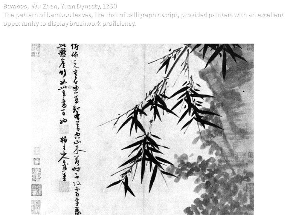 Bamboo, Wu Zhen, Yuan Dynasty, 1350