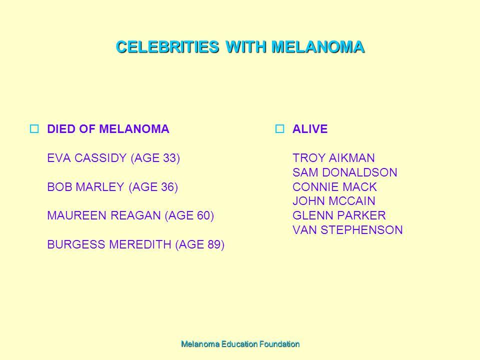 CELEBRITIES WITH MELANOMA