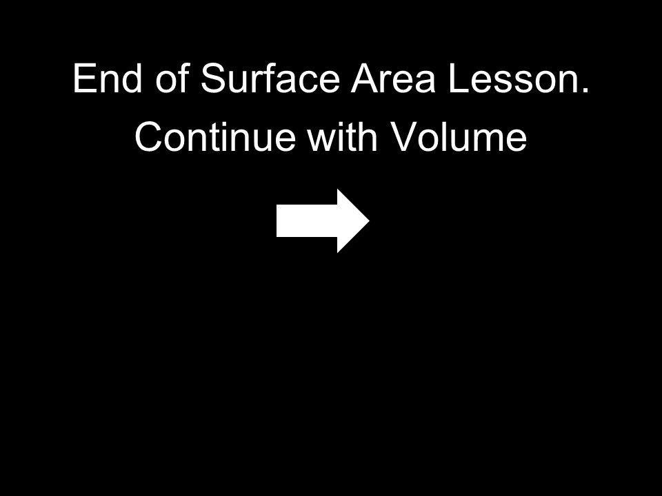 End of Surface Area Lesson.