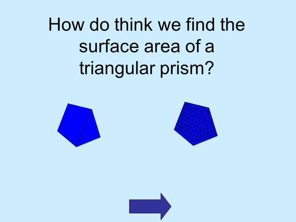 How do think we find the surface area of a triangular prism