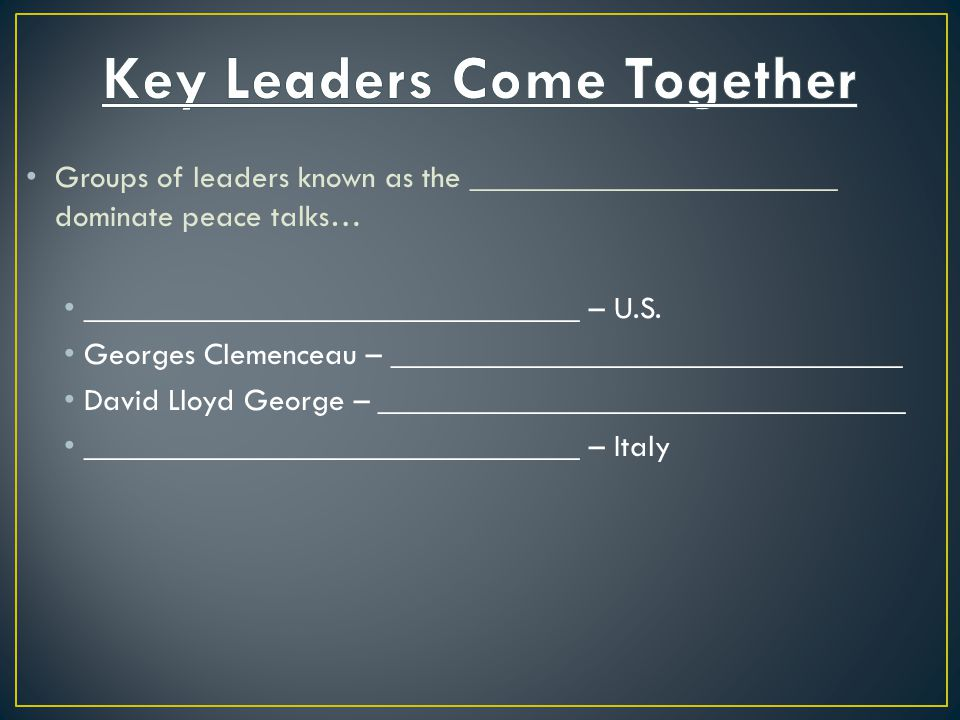 Key Leaders Come Together