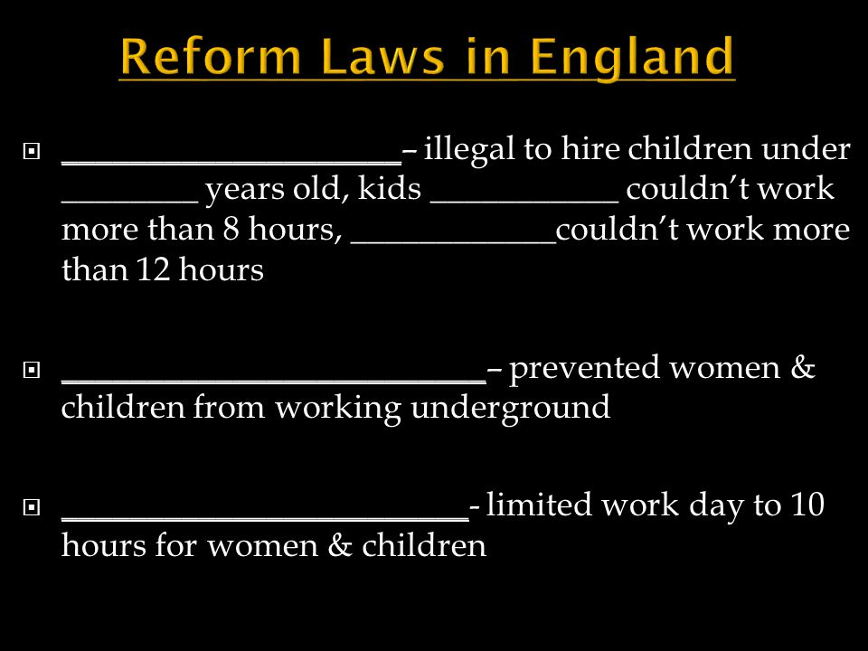 Reform Laws in England