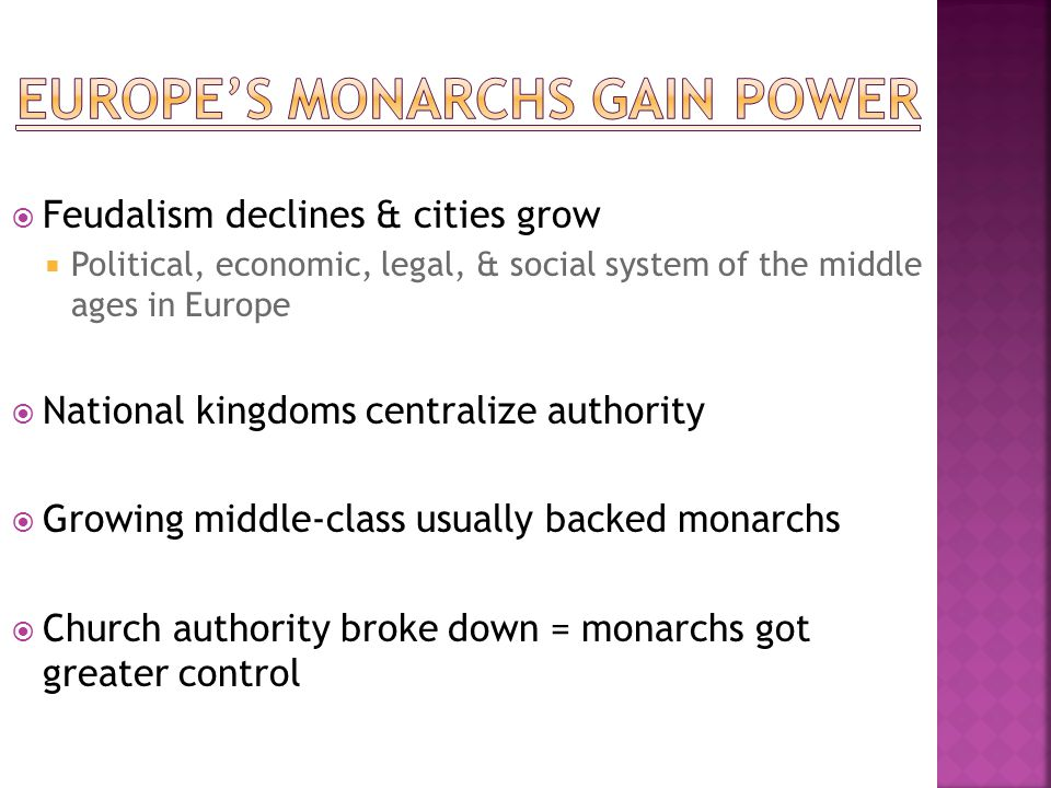 Europe's monarchs gain power