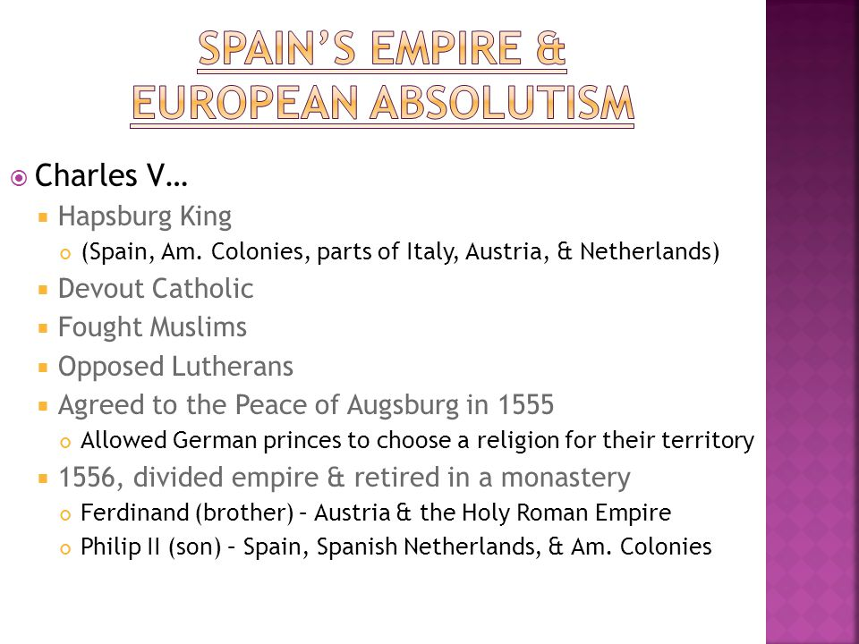 Spain's Empire & European Absolutism