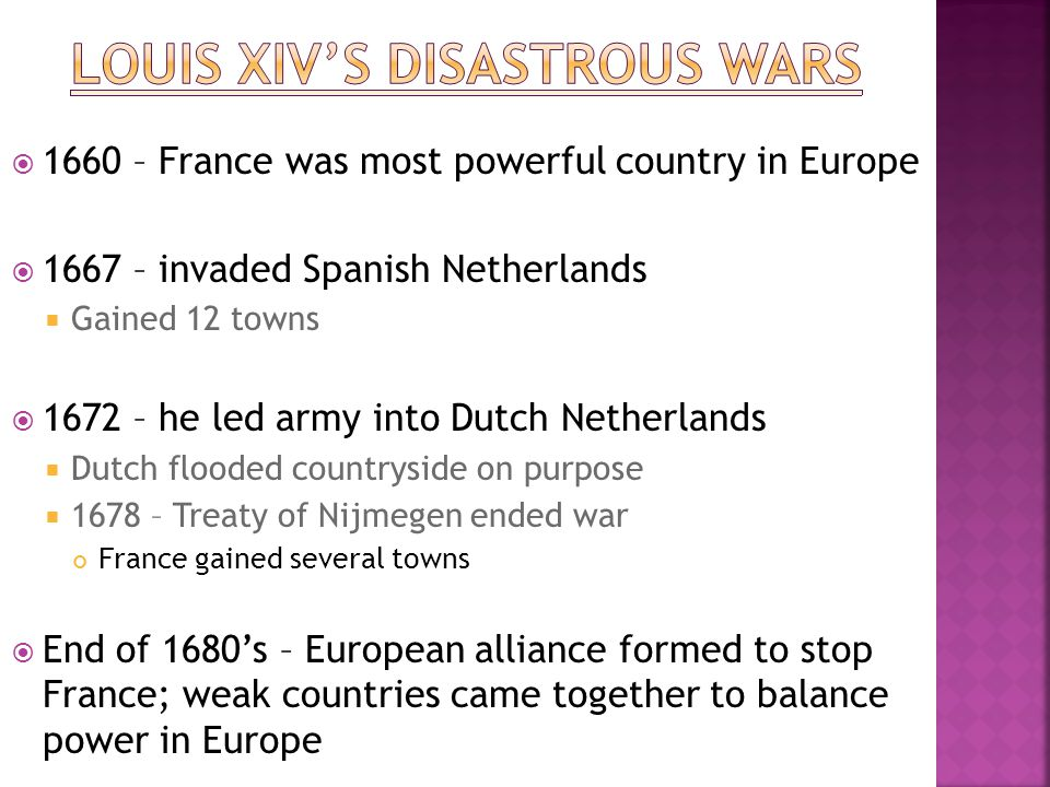 Louis XIV's disastrous wars