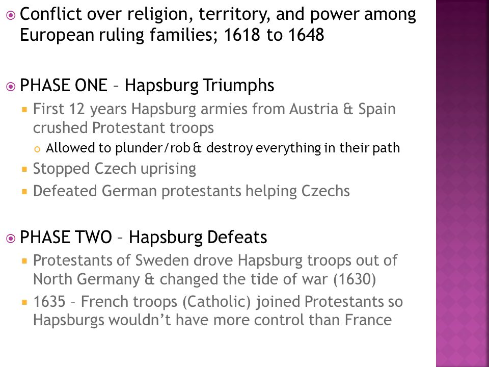 PHASE ONE – Hapsburg Triumphs