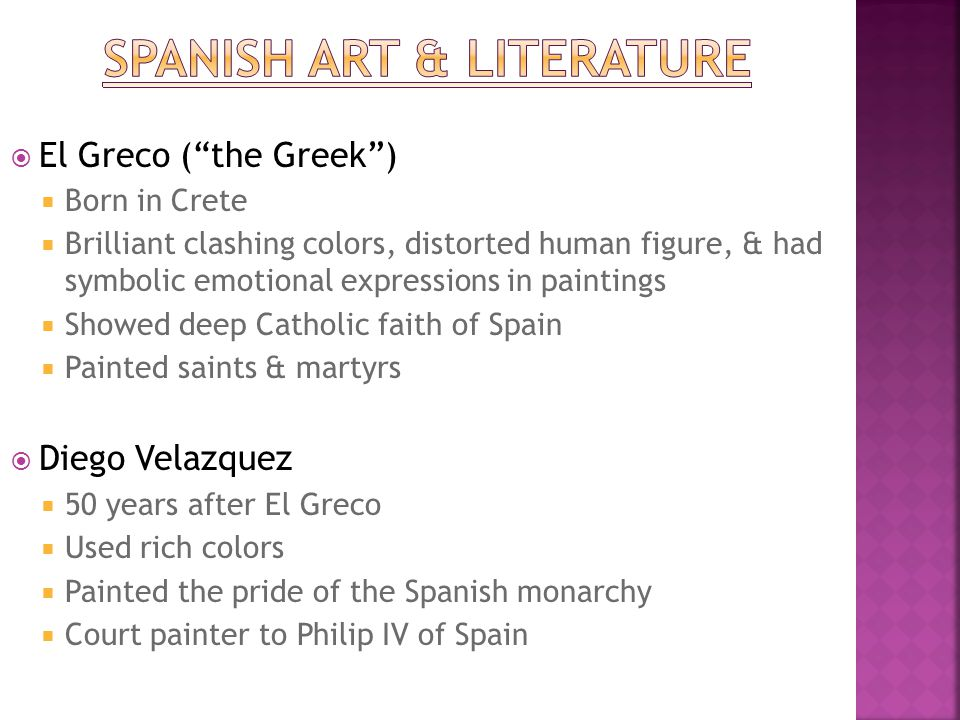 Spanish Art & Literature