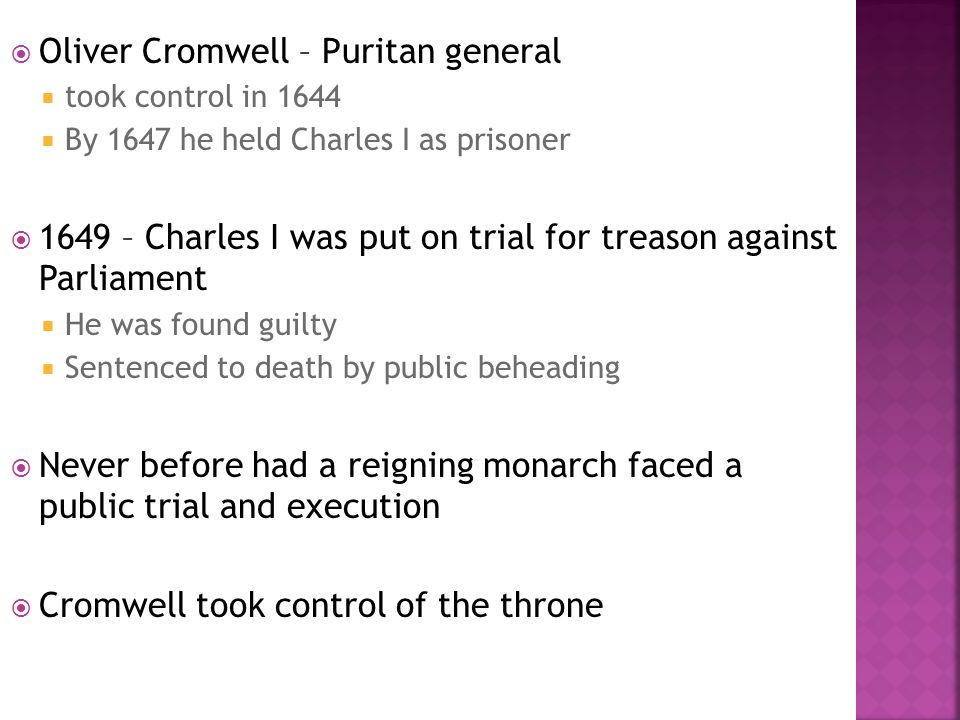 Oliver Cromwell – Puritan general