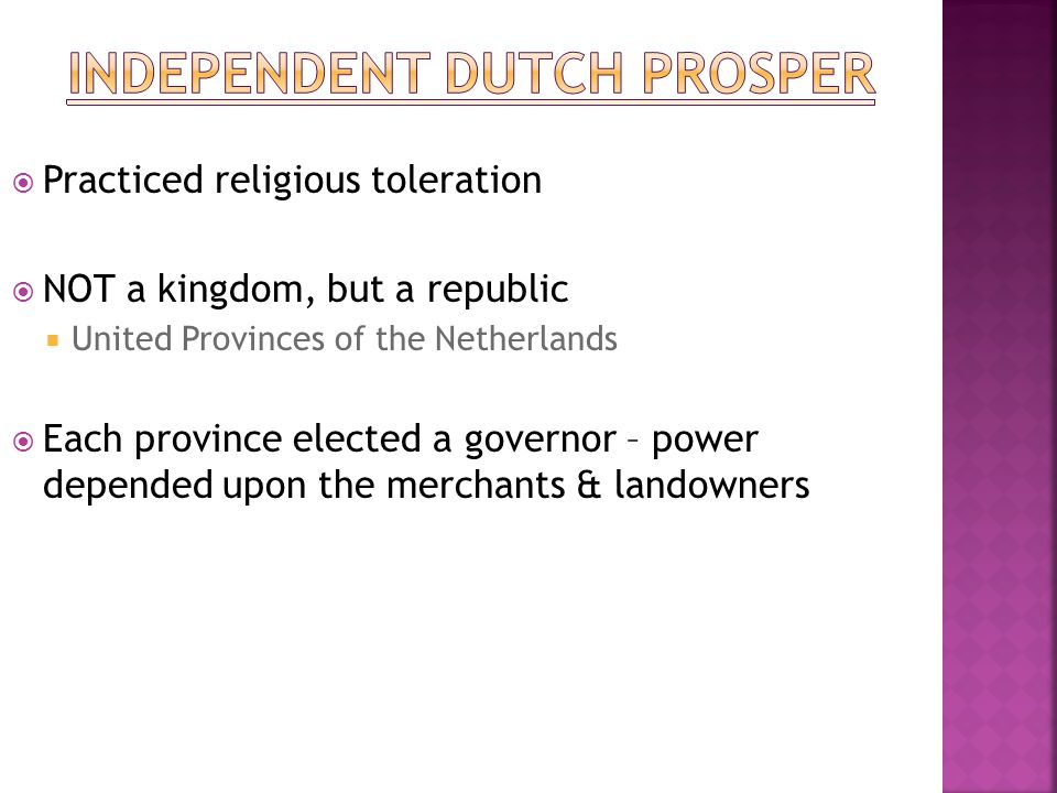 Independent Dutch prosper