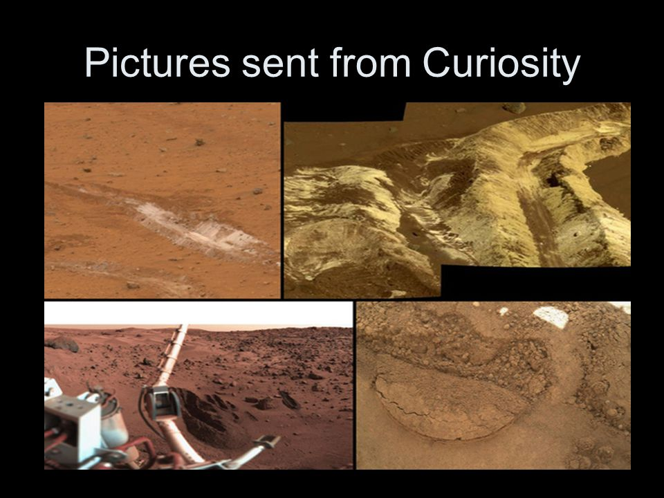 Pictures sent from Curiosity