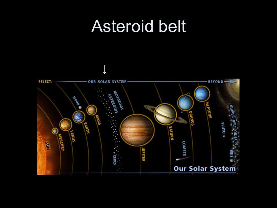 Asteroid belt ↓