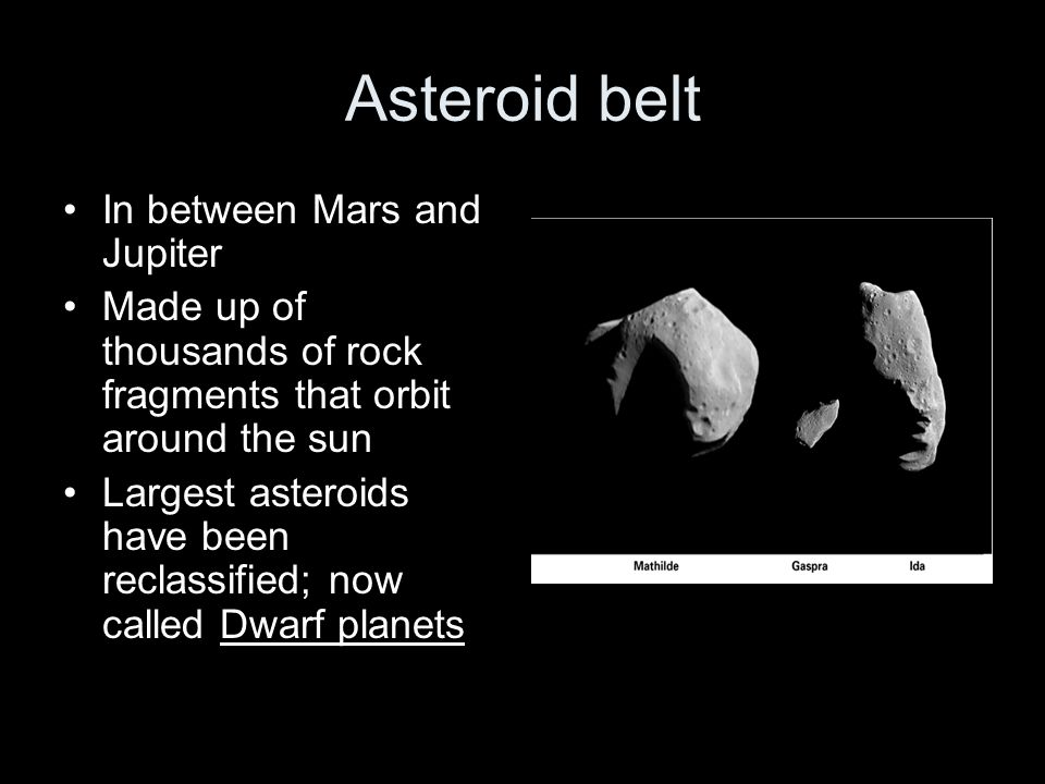 Asteroid belt In between Mars and Jupiter