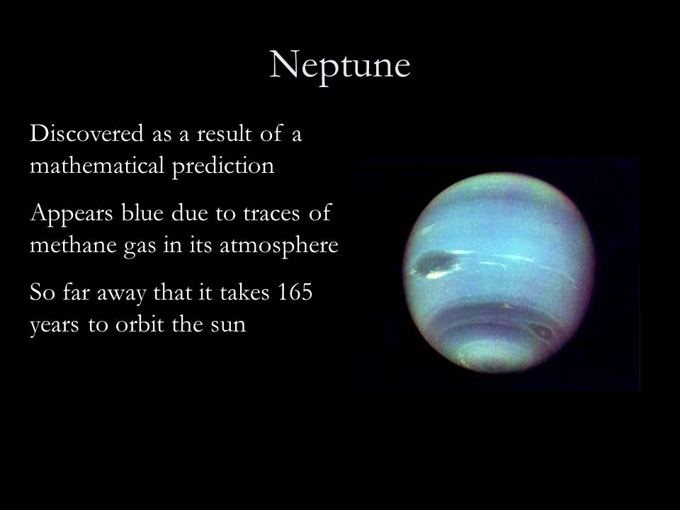 Neptune Discovered as a result of a mathematical prediction