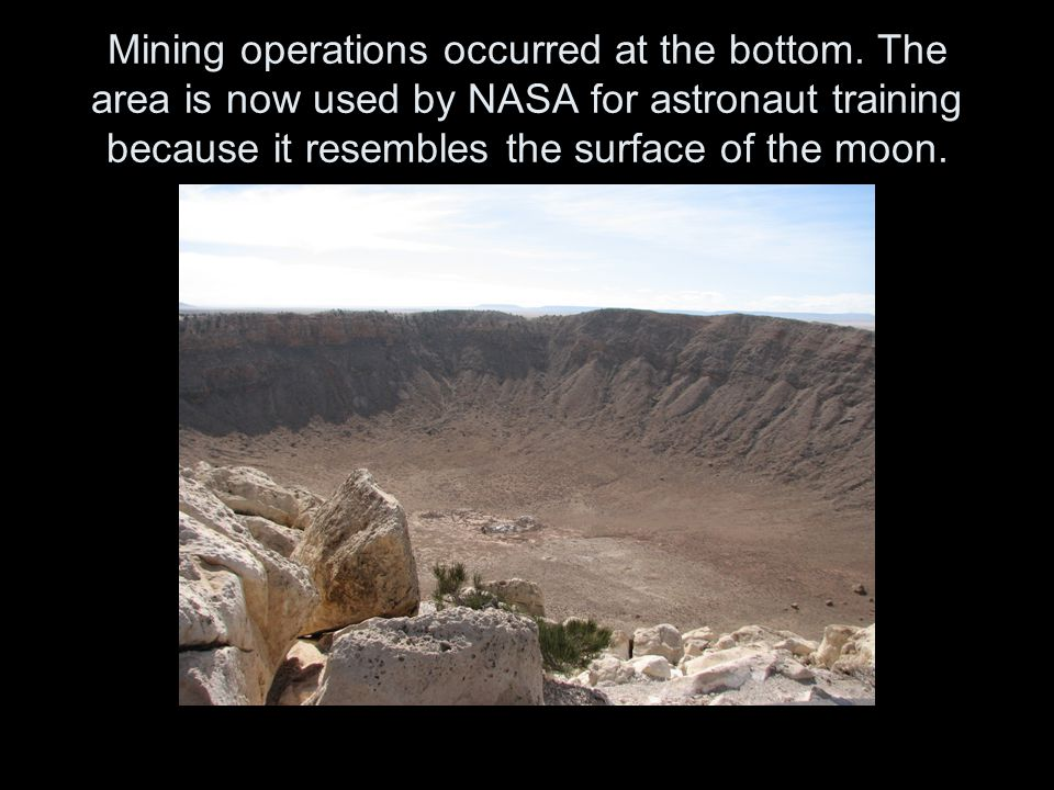 Mining operations occurred at the bottom