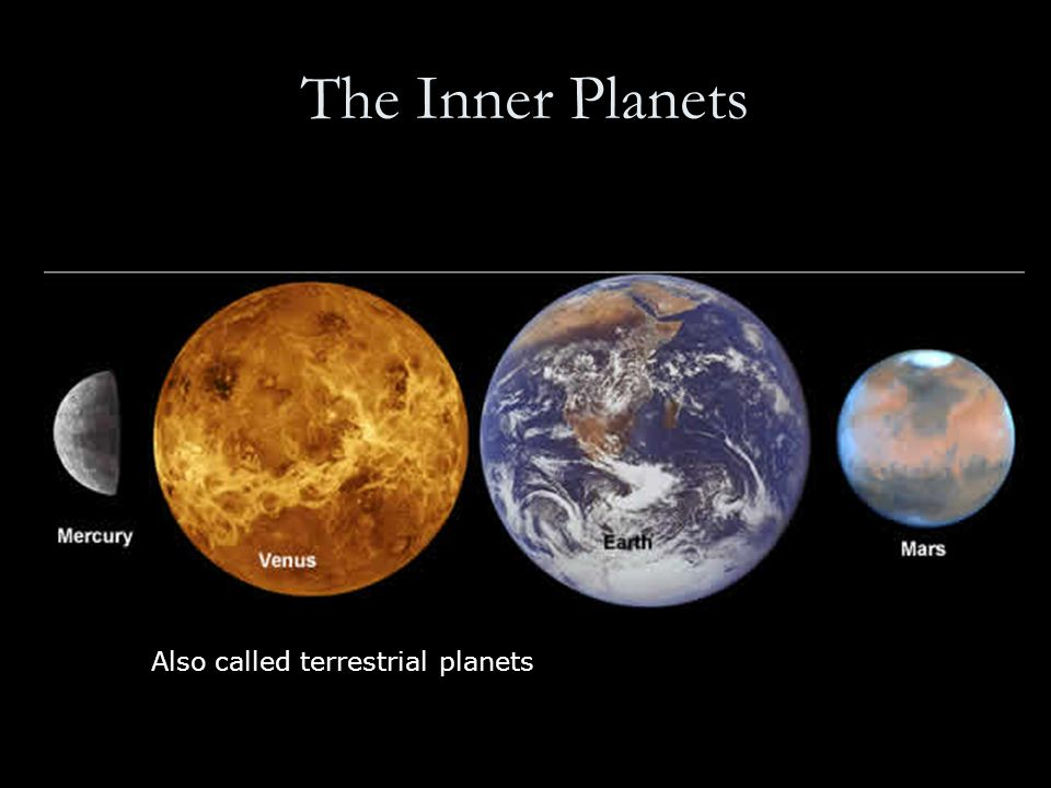 The Inner Planets Also called terrestrial planets