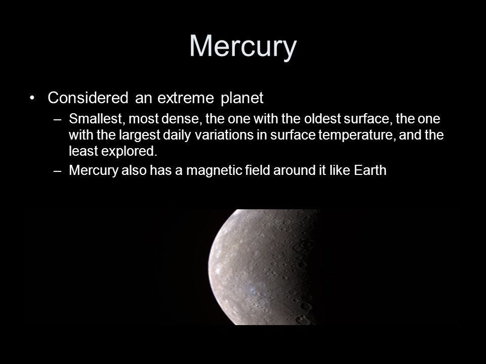 Mercury Considered an extreme planet