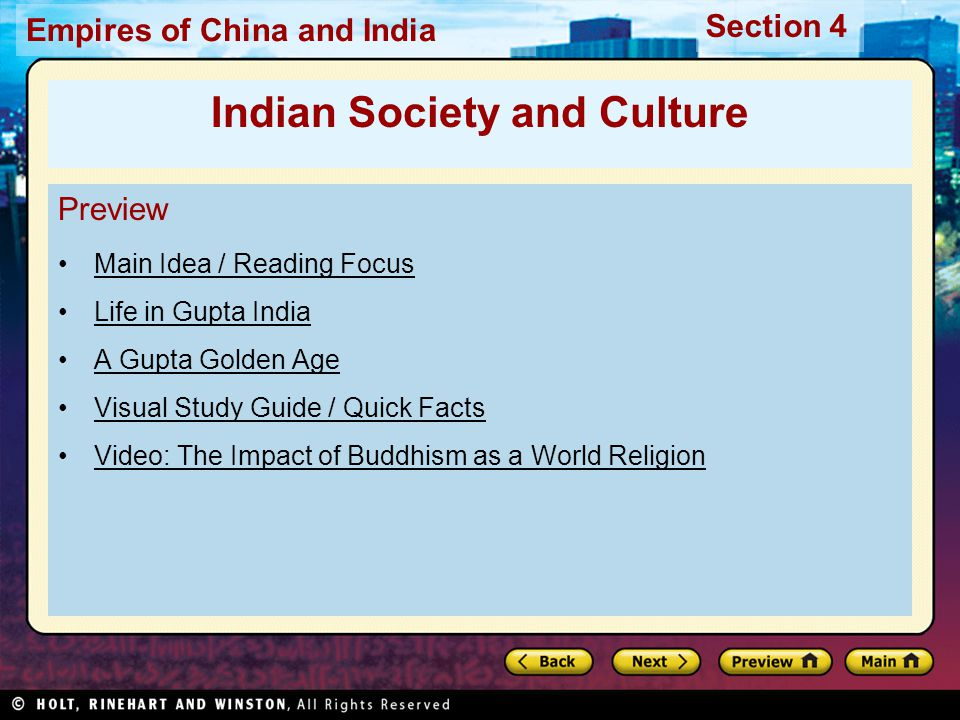 Indian Society and Culture