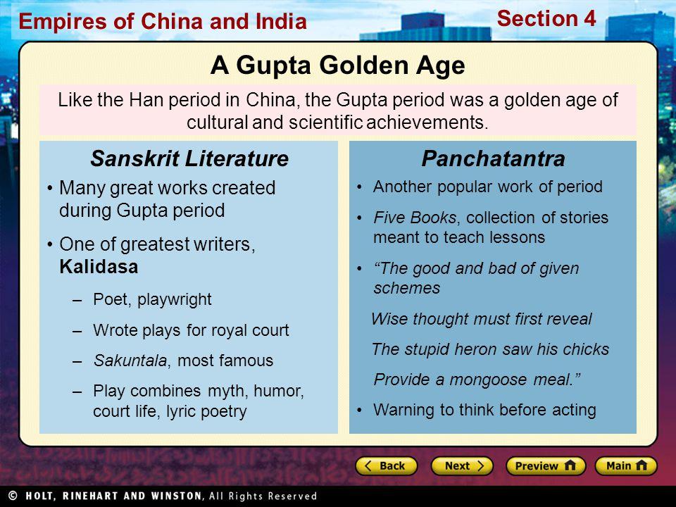 A Gupta Golden Age Sanskrit Literature Panchatantra