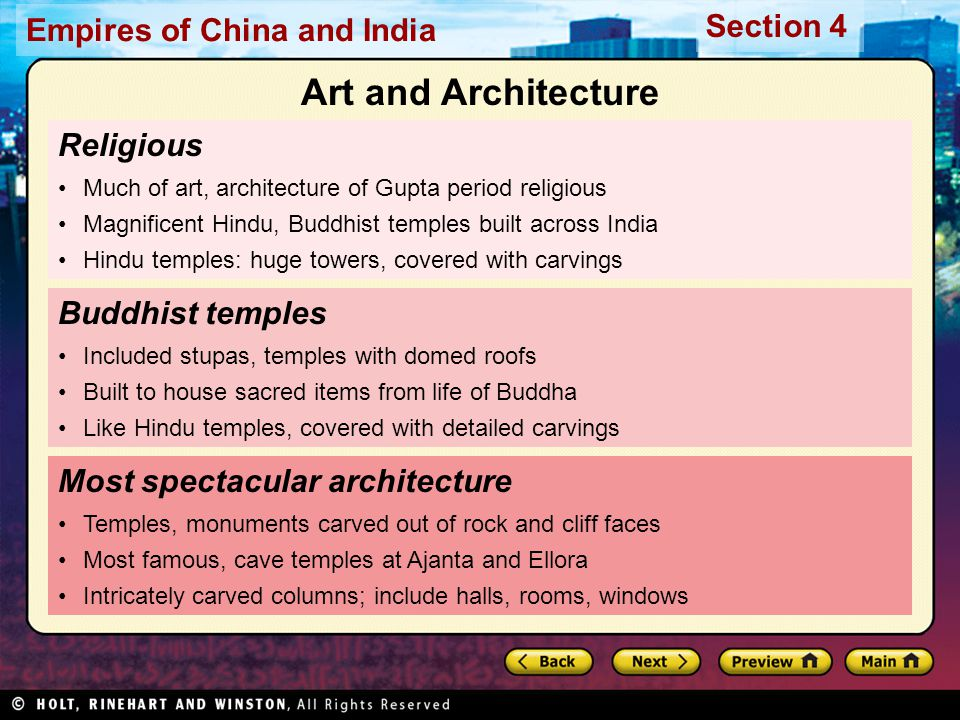 Art and Architecture Religious Buddhist temples