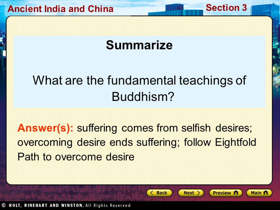 What are the fundamental teachings of Buddhism