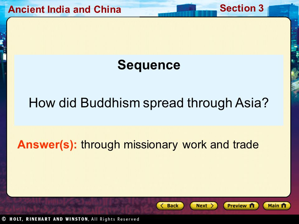 How did Buddhism spread through Asia