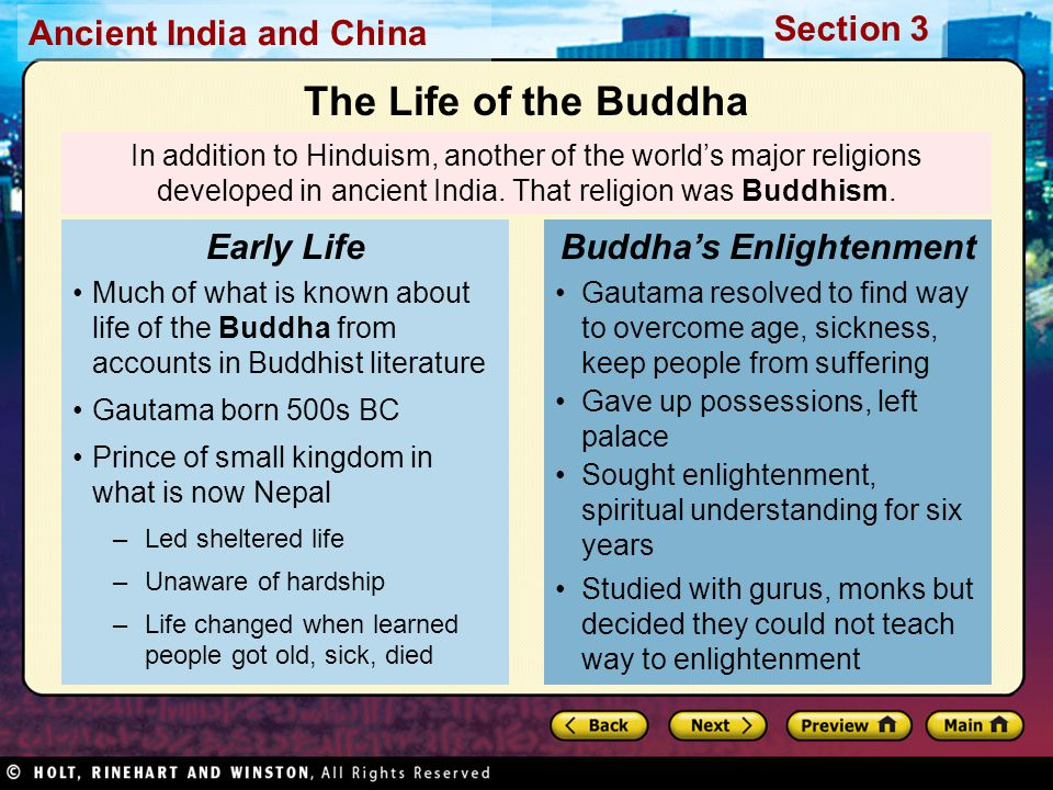 Buddha's Enlightenment
