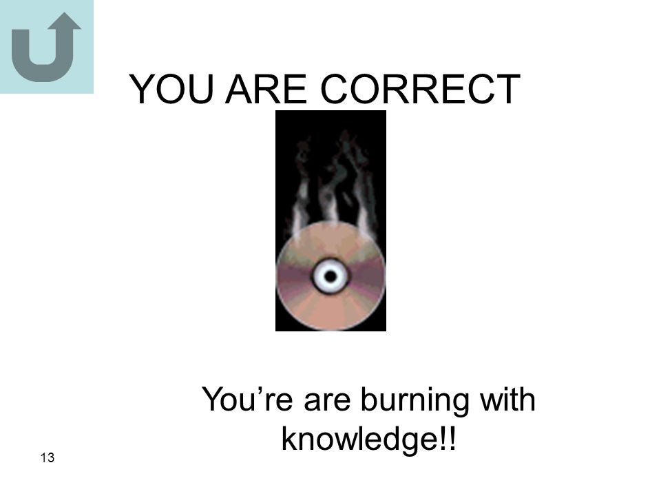 You're are burning with knowledge!!