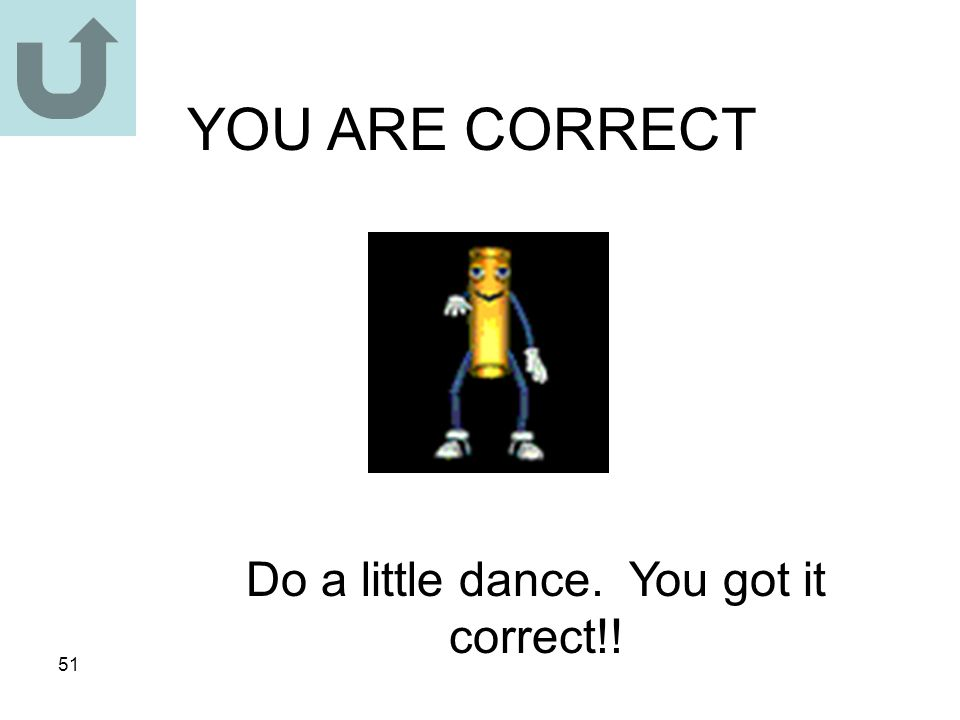Do a little dance. You got it correct!!