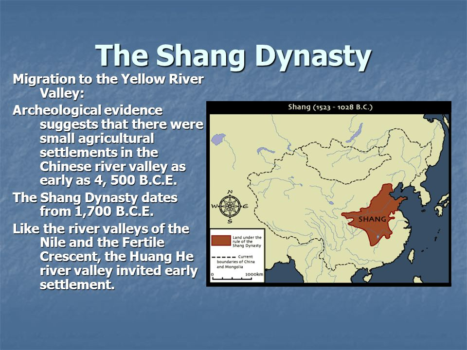 The Shang Dynasty Migration to the Yellow River Valley: