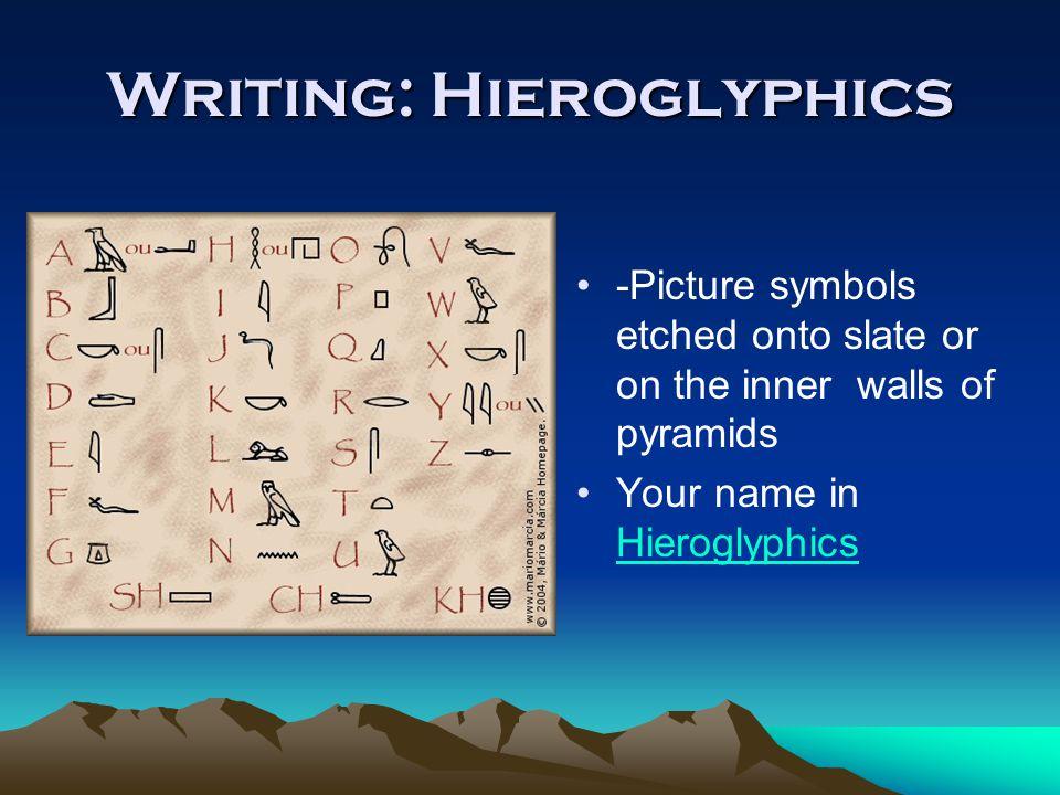 Writing: Hieroglyphics