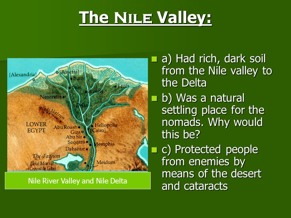 Nile River Valley and Nile Delta