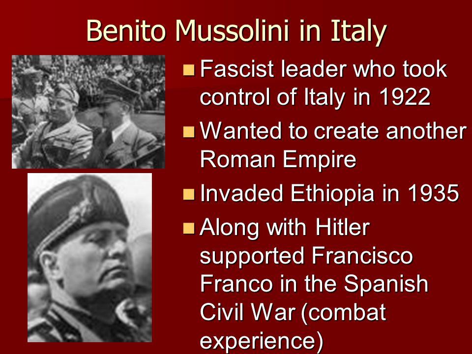 Benito Mussolini in Italy