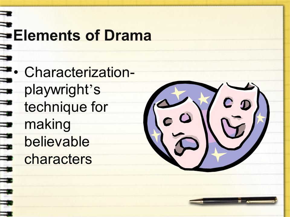 Elements of Drama Characterization-playwright's technique for making believable characters