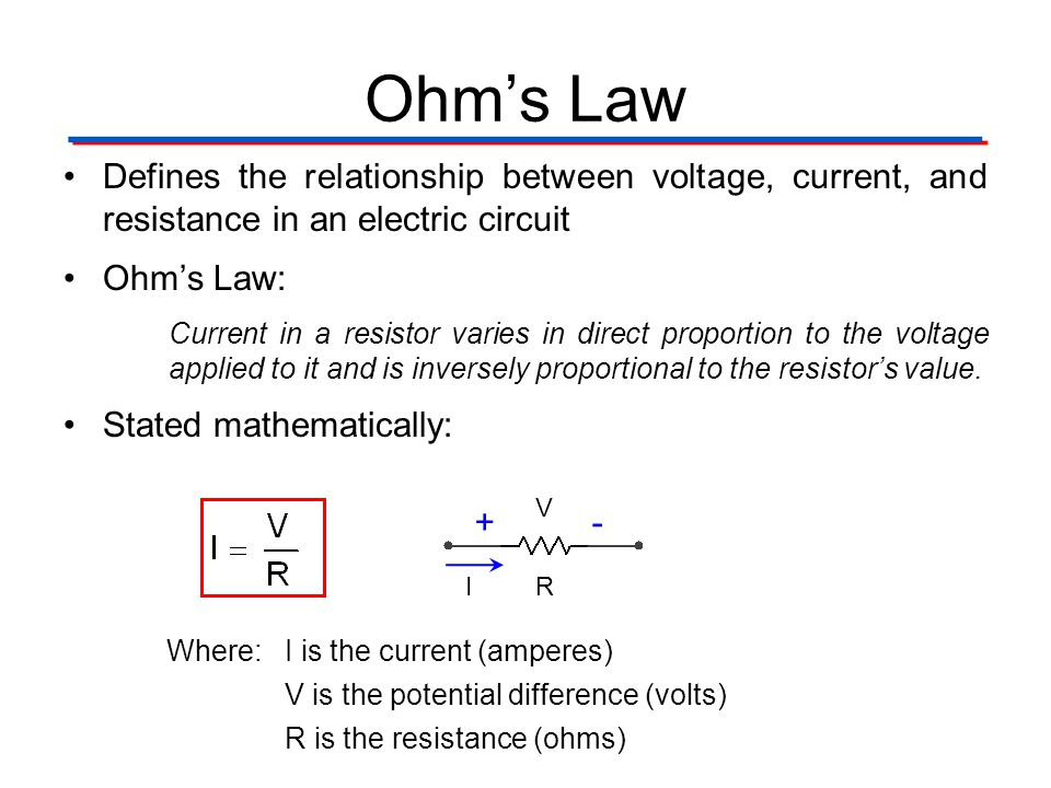 Circuit Theory Laws Digital Electronics TM. 1.2 Introduction to Analog. Ohm's Law.