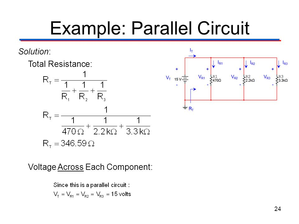 Example: Parallel Circuit