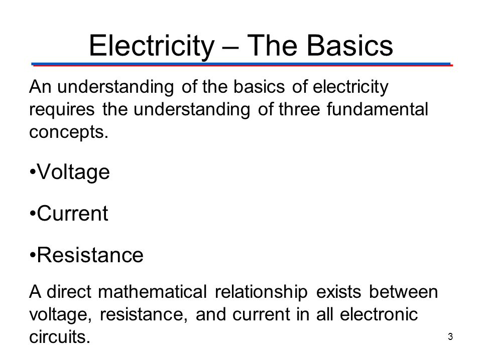 Electricity – The Basics